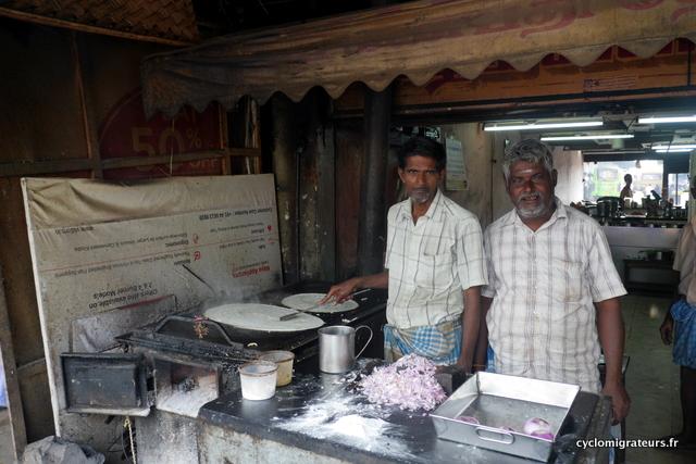 Restaurant de rue fabrication de dosai