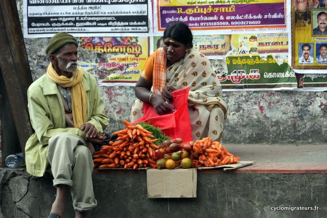 Vendeur de carottes à Trichy