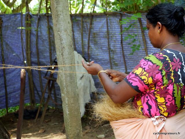 Tissage corde de coco